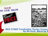 """""""MCS 27489 Trendsetter Poster Frame, 27 by 40-Inch, Black by MCS"""""""