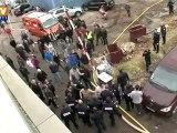 INFO BFMTV - Un camion-citerne en feu sur un pont de Rouen