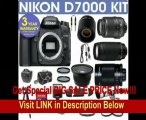 REFURBISHED Nikon D7000 Digital Camera + Nikon 18-55mm VR Lens + Nikon 70-300mm Lens + .40x Wide Angle Fisheye Lens + 500mm Mirror Lens + 2x T-Mount Telephoto Lens + 650-1300mm Zoom Lens + 3 Year Celltime