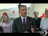"""Sandy, Obama avverte la popolazione: """"Non è ancora finita"""". Il presidente: l'uragano si sposta verso nord, ancora rischi"""