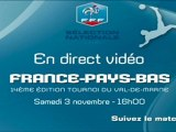 Direct U16 France contre Pays-Bas samedi 3 à 16h