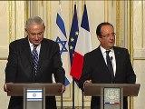 """""""Pas de condition préalable"""" pour reprendre les négociations sur le processus de paix (M. Netanyahu)"""