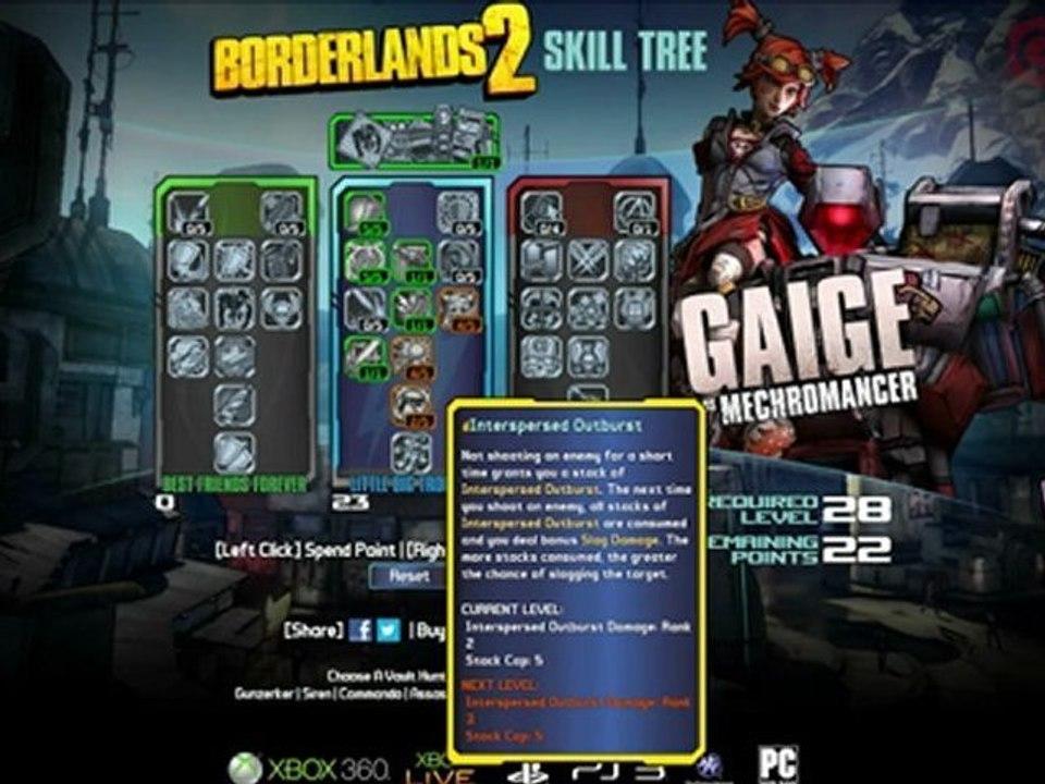 Borderlands 2: Gaige the Mechromancer Skill Tree Revealed!
