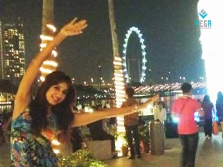 Sanjjanaa having fun in Singapore oct 2012 celebrating her birthday (Archana Galrani)