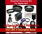 BEST BUY Ultimate Accessory Kit For Canon Rebel T3 (EOS 1100D), T3i (EOS 600D) Digital SLR Cameras (Which Have the Following Canon Lenses - 18-55mm, 55-250mm, 75-300mm, 50mm 1.4): Includes - 0.45x Wide Angle Lens, 2x Telephoto Lens, 3 Piece Professsional