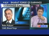 Bharat Forge Q2 PAT at Rs 106 Cr (YoY), sales down by 3.4%