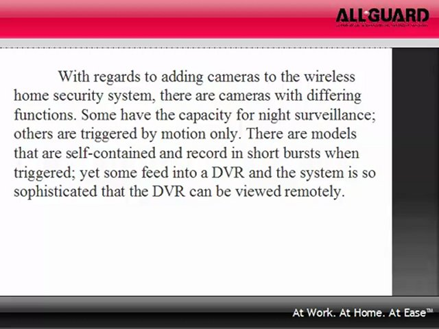 Wireless Home Security Video Systems Allow For Great flexibility To Fulfill Your Requirements