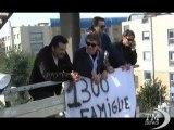 Napoli, lavoratori EavBus in sciopero: accampati sul tetto. Si chiedono risposte chiare per il futuro di 1270 famiglie