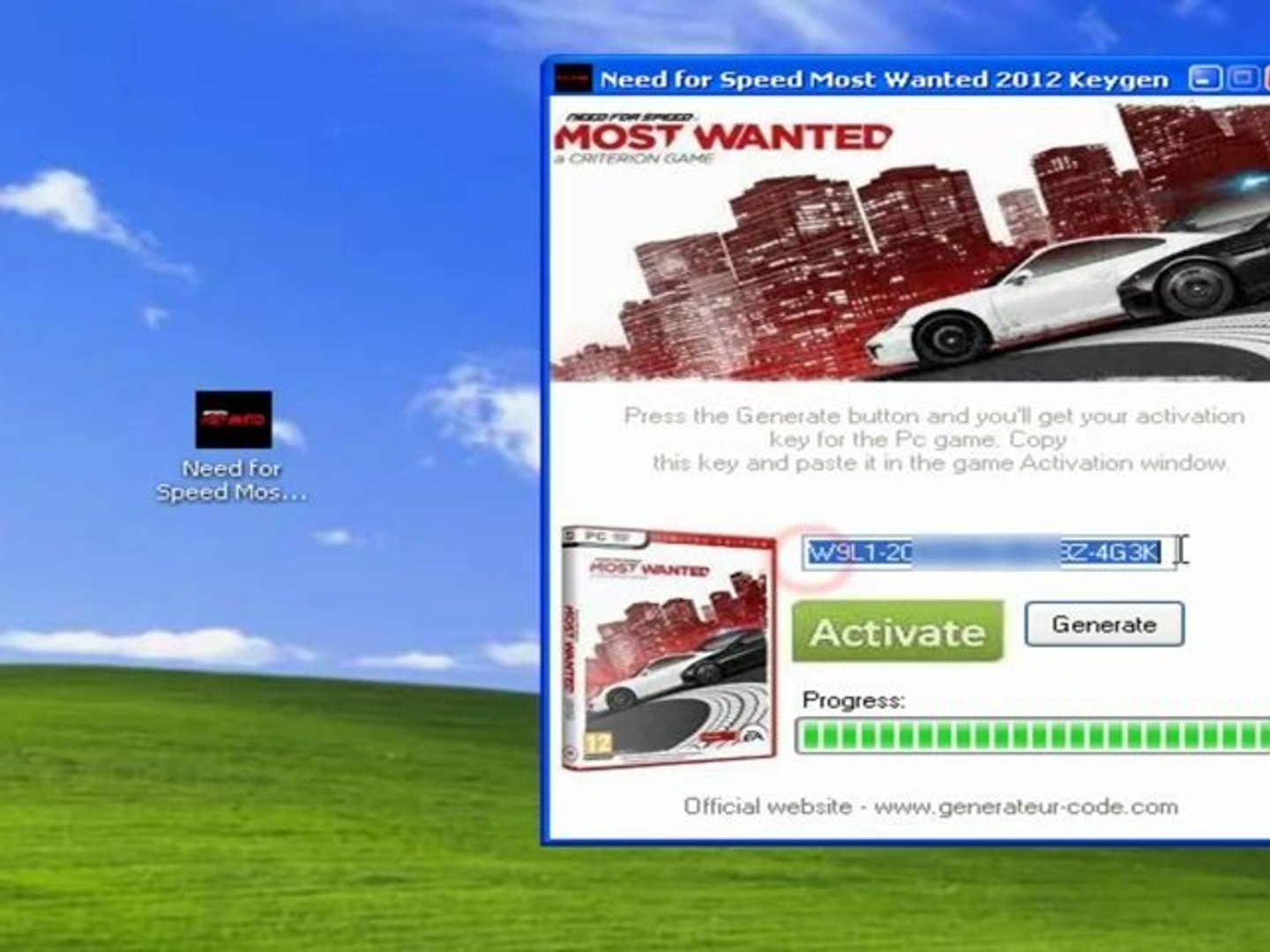 Need for Speed Most Wanted 2012 d'activation code France