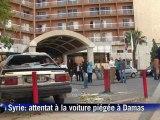 "Syrie: attentat ""terroriste"" près de l'hôtel Dama Rose de Damas"