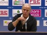 Conférence de presse ESTAC Troyes - Montpellier Hérault SC : Jean-Marc FURLAN (ESTAC) - René GIRARD (MHSC) - saison 2012/2013