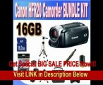 Canon VIXIA HF R20 Full HD Camcorder with 8GB Internal Flash Memory (Black) + 16GB SDHC Memory Card + USB Card Reader + Memory Card Wallet + Shock Proof Deluxe Case + Lens Pen Cleaner + Full Size Tripod + Accessory Saver Bundle!!! REVIEW