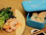 Bien déjeuner dans ma boîte - Rouleaux de printemps aux herbes, poulets et crevettes