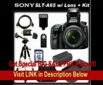 BEST PRICE Sony a (alpha) SLT-A65V (A65) - Digital camera - SLR - 24.3 Mpix - Sony DT 18-55mm lens - SSE Package: Wireless Remote, Full Size Tripod, Replacement FM500H Battery, Rapid Travel Charger, 16GB SDHC Memory Card, Card Reader, Carrying Case, HDMI