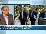 """Chérèque : """"les mesures sur la compétitivité vont dans le bon sens"""""""