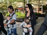 Celina Jaitley SPOTTED with twins