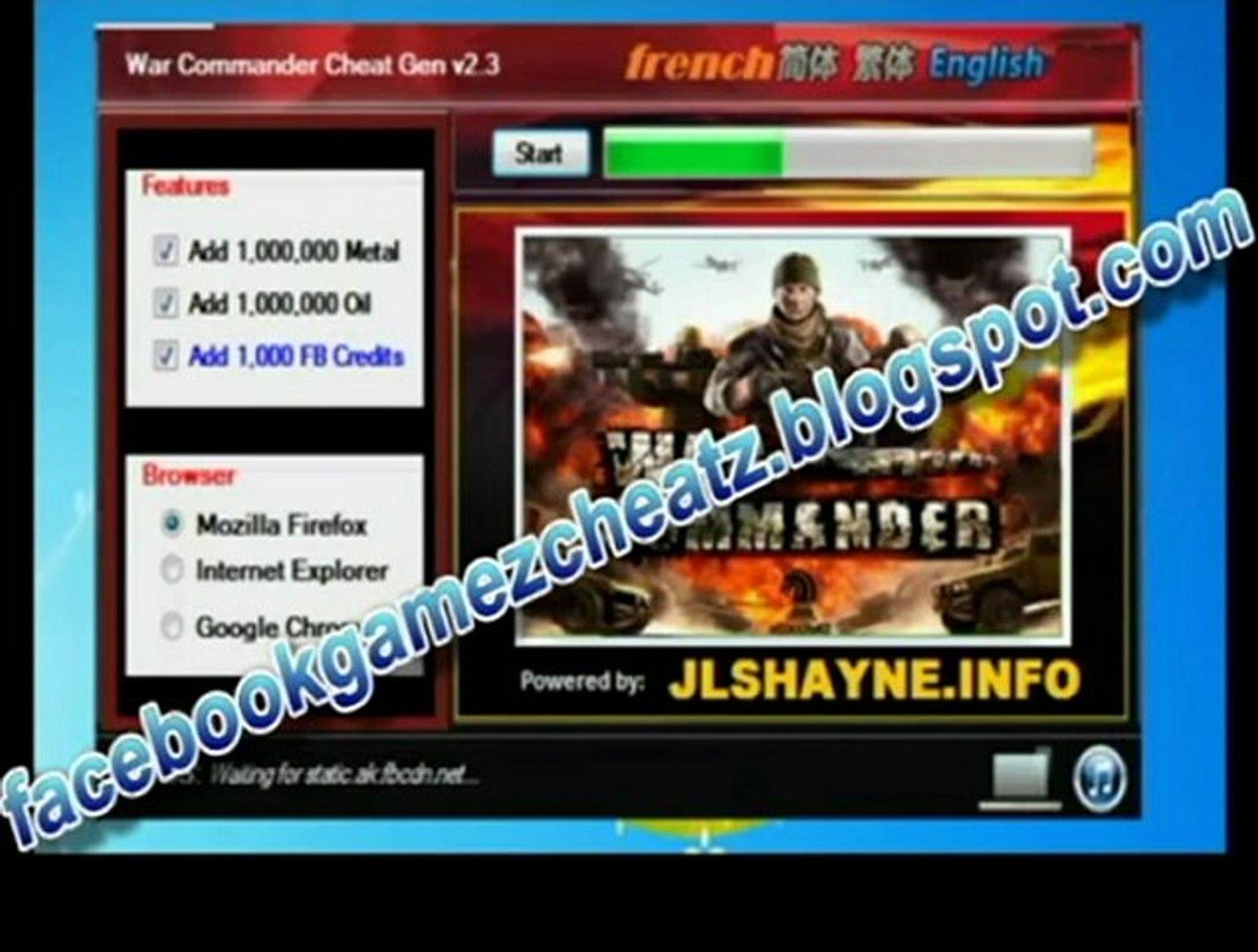 How to cheat war commander - War commander hack 2013