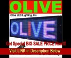 SPECIAL DISCOUNT Olive LED Sign Board - Programmable Scrolling Message Board - 15 Inch(h) X 53 Inch(w), 3 Color(Red, Blue, Purple)