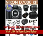 BEST PRICE REFURBISHED Nikon D7000 Digital Camera + Nikon 18-55mm VR Lens + Nikon 70-300mm Lens + .40x Wide Angle Fisheye Lens + 800mm Mirror Lens + 2x T-Mount Telephoto Lens + 650-1300mm Zoom Lens+ 3 Year Celltime