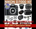 REFURBISHED Nikon D7000 Digital Camera + Nikon 18-55mm VR Lens + Nikon 70-300mm Lens + .40x Wide Angle Fisheye Lens + 800mm Mirror Lens + 2x T-Mount Telephoto Lens + 650-1300mm Zoom Lens+ 3 Year Celltime REVIEW
