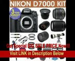 REFURBISHED Nikon D7000 Digital Camera + Nikon 18-55mm VR Lens + Nikon 70-300mm Lens + .40x Wide Angle Fisheye Lens + 800mm Mirror Lens + 2x T-Mount Telephoto Lens + 650-1300mm Zoom Lens+ 3 Year Celltime REVIEW