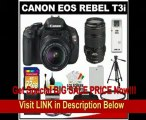 Canon EOS Rebel T3i 18.0 MP Digital SLR Camera Body & EF-S 18-55mm IS II Lens with 70-300mm IS USM Lens + 32GB Card + Battery + Case + Filter Set + Tripod + Cleaning Kit FOR SALE