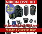 BEST BUY Nikon D90 12.3 MP Digital SLR Camera with 18-55mm f/3.5-5.6G AF-S DX VR Nikkor Zoom Lens + Nikon 70-300mm F/4-5.6 Telephoto Zoom Lens + Rokinon 500mm F/8 Lens with 2x Converter (=1000mm) + .42x Wide Angle Lens with Macro + +1, +2, +4, +10 4 Piece