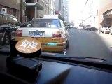 Taxi chinois roule comme un fou
