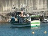 PAISAJE puerto de pescadores y playa de Candás