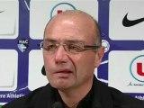 Conférence de presse Havre AC - Clermont Foot : Cédric DAURY (HAC) - Régis BROUARD (CFA)