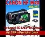 BEST PRICE Canon Vixia Hf M40 Hf-m40 Hfm40 Flash Memory Camcorder + 8gb Sdhc Memory + Camcorder Case + Aluminum Tripod + Hdmi Cable & More