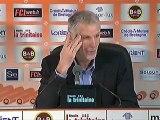 Conférence de presse FC Lorient - Girondins de Bordeaux : Christian  GOURCUFF (FCL) - Francis GILLOT (FCGB) - saison 2012/2013
