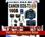 [REVIEW] Canon EOS Rebel T3 12.2 MP CMOS Digital SLR with 18-55mm IS II Lens (Black) + Canon EF 75-300mm f/4-5.6 III Telephoto Zoom Lens + 58mm 2x Telephoto lens + 58mm Wide Angle Lens (4 Lens Kit!!!) W/16GB S