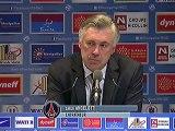Conférence de presse Montpellier Hérault SC - Paris Saint-Germain : René GIRARD (MHSC) - Carlo ANCELOTTI (PSG) - saison 2012/2013