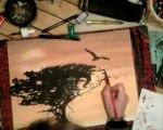 idark speed 6 pastel encre Paysage d'Afrique