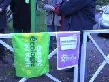 Action d'Europe Ecologie Les Verts Basse-Normandie de soutien avec les opposants de l'aéroport de Notre-Dame-des-Landes