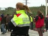 Los piquetes provocan barricadas en Barcelona