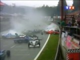 Formula 1 Belgique 1998 Massive crash start en francais TF1