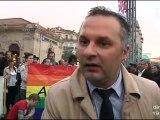 Manifestation pour des parents gays à Montpellier