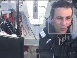 Première vidéo d'Alessandro Di Benedetto sur le Vendée Globe 2012