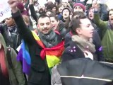 «Manif pour tous» et contre-manif' à Paris: la vidéo