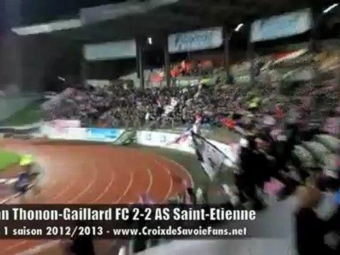 eTG FC 2-2 AS Saint-Etienne : Entrée des joueurs et départ des Brigada 74