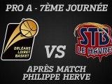 Réactions de Philippe Hervé - J07 - Réception du Havre