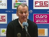 Conférence de presse ESTAC Troyes - AS Nancy Lorraine : Jean-Marc FURLAN (ESTAC) - Jean  FERNANDEZ (ASNL) - saison 2012/2013