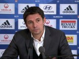 Conférence de presse Olympique Lyonnais - Stade de Reims : Rémi GARDE (OL) - Hubert FOURNIER (SdR) - saison 2012/2013