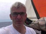 Vincent Riou abandonne, V. Riou retires from the race