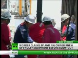 BP rig worker reported oil leak weeks before Deepwater Horizon disaster