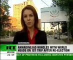 Вefiant Iranian leader shows up in Russia
