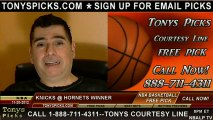New York Knicks versus New Orleans Hornets Pick Prediction NBA Pro Basketball Odds Preview 11-20-2012