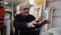 Artist Bill Vazan,  winner of the Prix Paul-Émile-Borduas, speaks